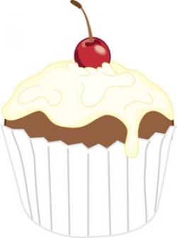 Icing clipart plain cupcake