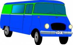 Vans clipart blue van