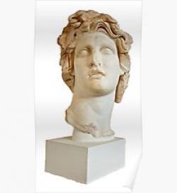 Vaporwave clipart marble bust