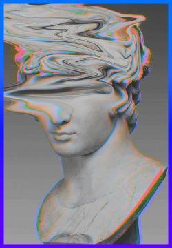 Vaporwave clipart roman statue