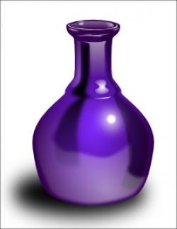 Vase clipart violet