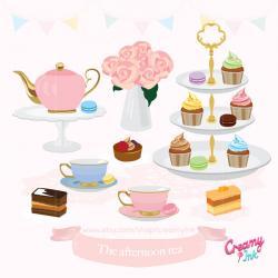 Tea Party clipart tea cake