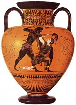 Achilles clipart greek art
