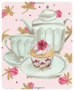 Vase-painting clipart tea cake