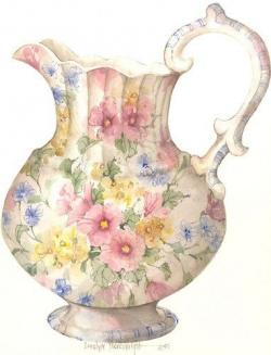 Vase-painting clipart teacup