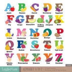 Vegetable clipart alphabet