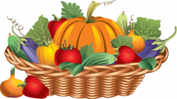Vegetables clipart basket drawing