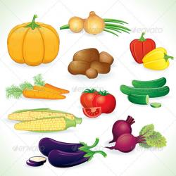 Vegetables clipart crop