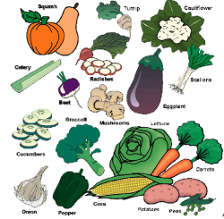 Vegetables clipart glow