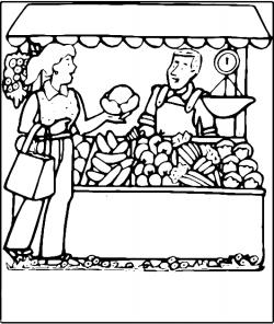 Vegetable clipart salesman