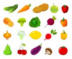 Fruits & Vegetables clipart sayur