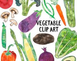 Vegetable clipart stamp