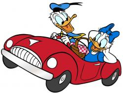Donald Duck clipart drive a