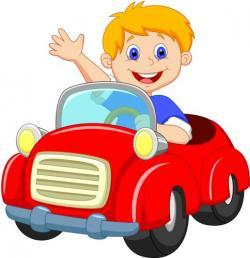 Miniature clipart animated car