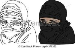 Veil clipart burka