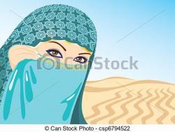 Veil clipart islamic woman