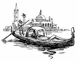 Venice clipart Venice Gondola Clipart