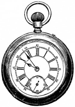 Drawn watch clip art