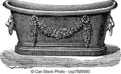 Bathtub clipart victorian