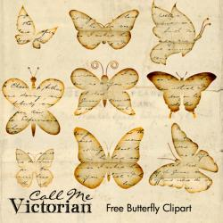 Inspiring clipart vintage butterfly