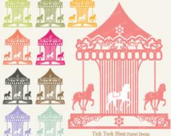 Carneval clipart vintage carousel