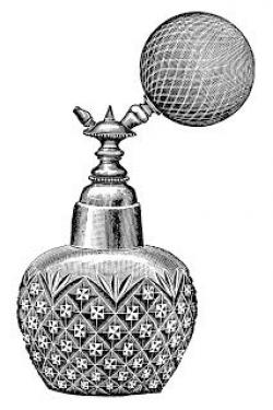 Victorian clipart perfume bottle