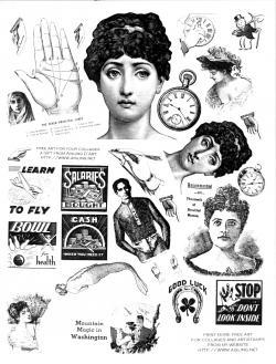 Collage clipart victorian era