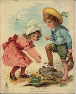 Victorian clipart seaside