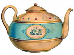Drawn teapot cute