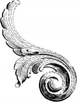 Scroll clipart antique