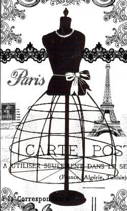 Collage clipart vintage paris