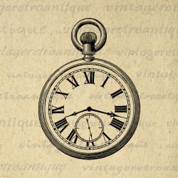 Pocket Watch clipart old style
