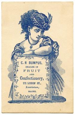 Advertisement clipart vintage lady