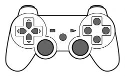 Controller clipart drawn
