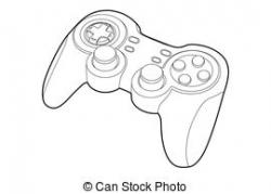 Controller clipart black and white