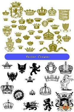 Vignette clipart royal vector
