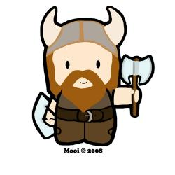 Viking clipart scared