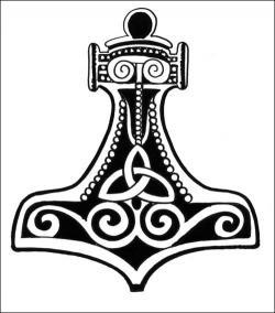 Viking clipart thor's hammer