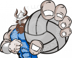 Viking clipart volleyball