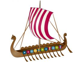 Viking Ship clipart