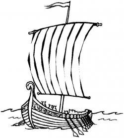 Viking Ship clipart scandinavian