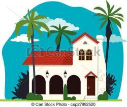Villa clipart spanish style