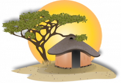 Hut clipart village scene