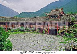 Courtyard clipart monastery