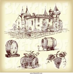 Vineyard clipart drawing