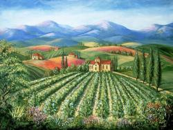 Vineyard clipart tuscany