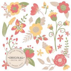 Floral clipart vintage flower
