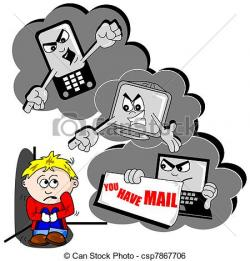 Computer clipart cyber bullying
