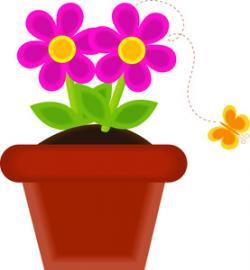 Flowerpots clipart may flower