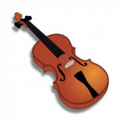 Violin clipart brown objects